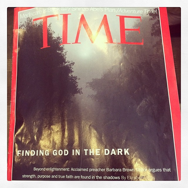 At a doctors appointment , and I ask for a sign. I pull up this magazine. What gives me hope is my connection to source.