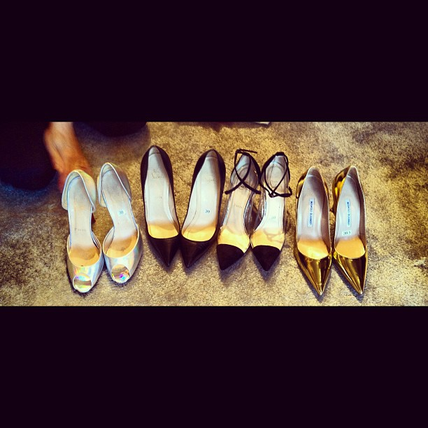 A sneak peak at the amazing shoe pull for my new collection. I wish I was a size 8 but that would look strange.