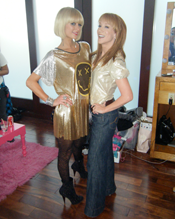 Paris Hilton wearing Haleh