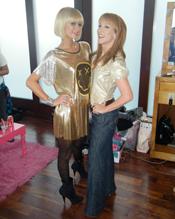 Paris Hilton wearing Haleh