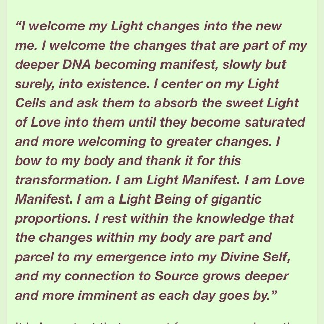 Becoming a light body.