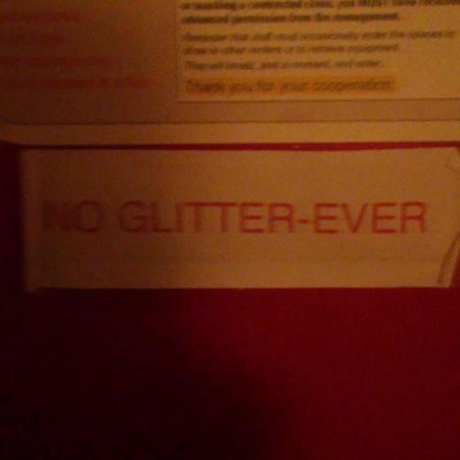 No-glitter-ever